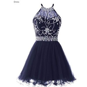Musever Halter Short Homecoming Dress